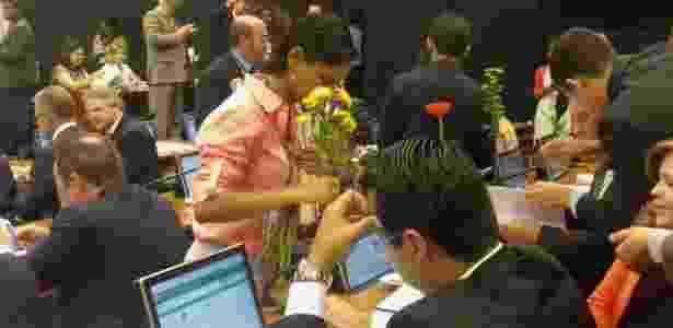 flores na comissão do impeachment - Fabiana Maranhão/UOL - Fabiana Maranhão/UOL