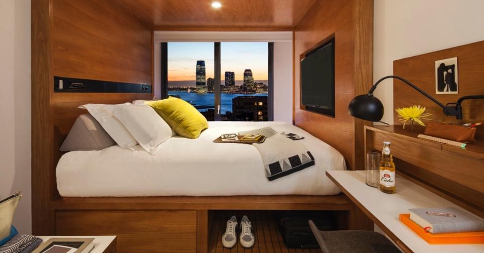 Hotel Arlo em Nova York tem micro quartos