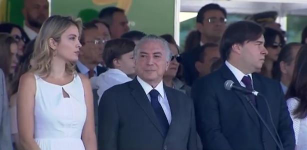 Temer chega a desfile de 7 de Setembro em Brasília - Reprodução