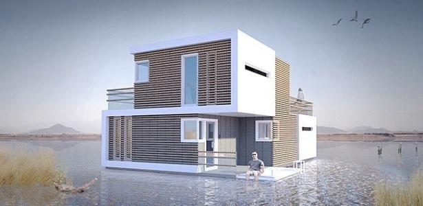 Essa é a concepção artística do projeto da casa que pode ser dividida em duas