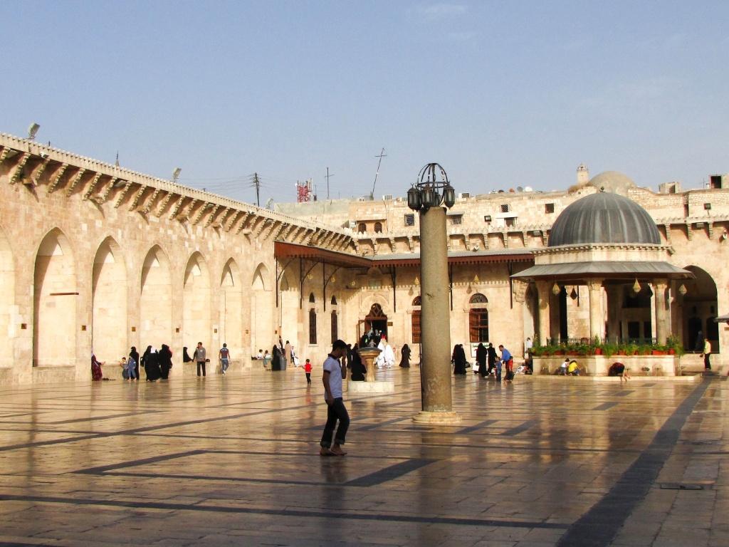 Pátio central da Mesquita Umayyad