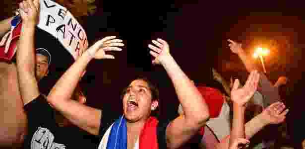 Manifestantes protestam contra a aprovação da reeleição presidencial no Paraguai - Xinhua/Ultima Hora - Xinhua/Ultima Hora
