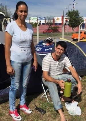 Jéssica Oliveira, 37, e Itamar Silva, 35, vieram de Eldorado do Sul