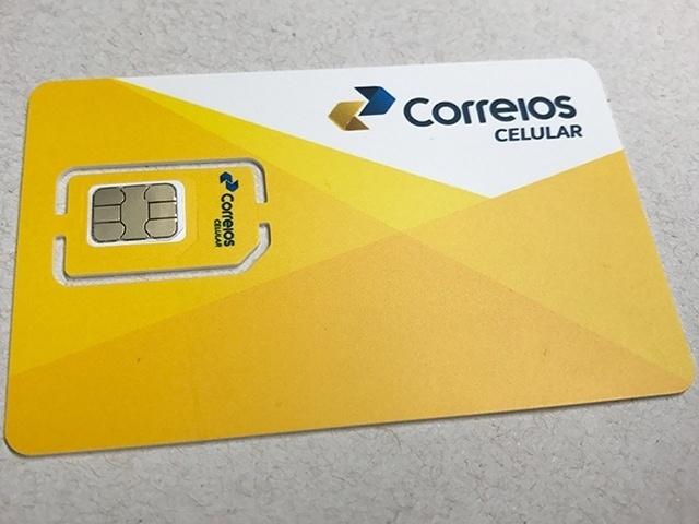 Chip do plano de celular pré-pago dos Correios