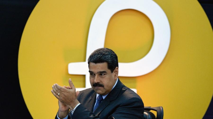 O presidente venezuelano Nicolás Maduro durante evento de lançamento da criptomoeda Petro, em Caracas, Venezuela - Federico Parra/ AFP