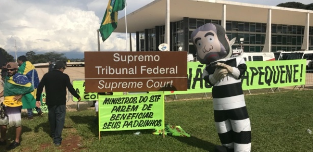 Protesto contra o Supremo na semana passada - Kleyton Amorim/UOL