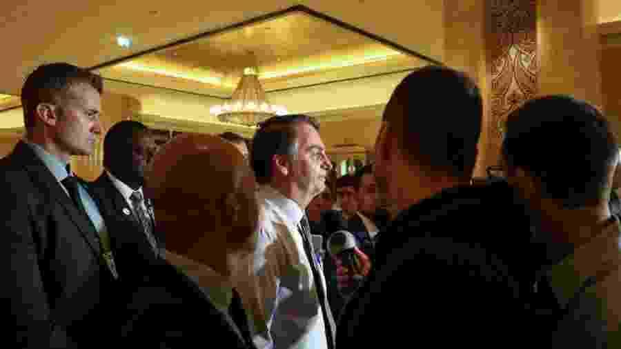 """""""O que poderia acontecer é algo semelhante ao que acontece no Chile. Está um pouco descartado desta forma, mas existe toda e qualquer preocupação"""", afirmou Bolsonaro em viagem ao Oriente Médio - na foto, em Abu Dhabi - Clauber Cleber Caetano/Presidência da República"""