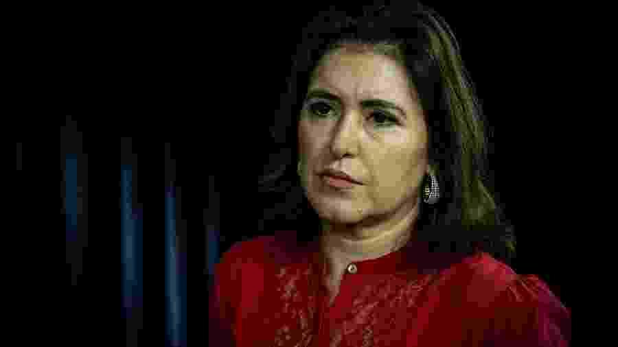 28.nov.2019 - A senadora, Simone Tebet (MDB-MS), presidente da CCJ do Senado - Kleyton Amorim/UOL
