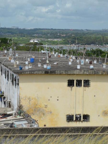Presídio de Itamaracá, em Pernambuco; estado tem 78 presos monitorados  - Divulgação/Defensoria Pública