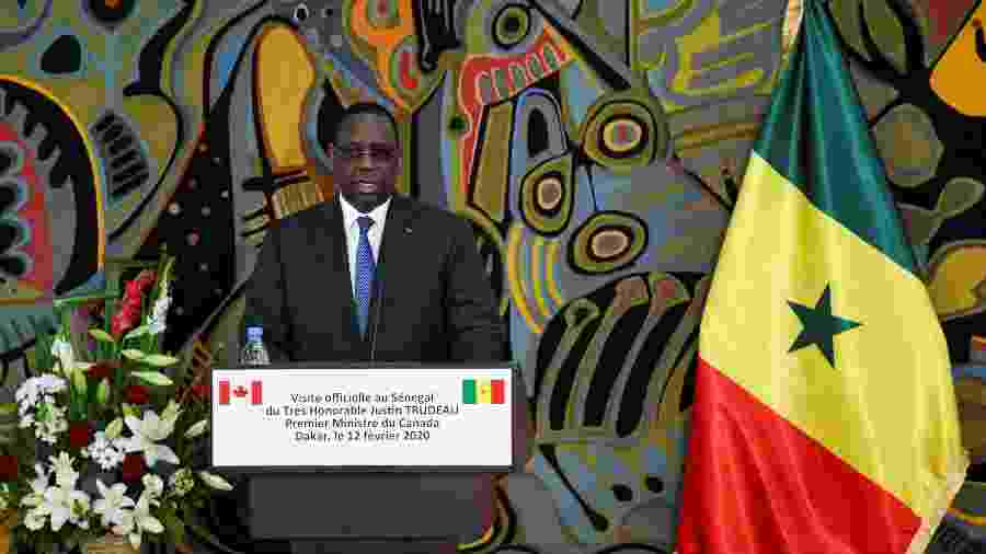 """""""Quem tem a orientação sexual de sua escolha não é alvo de exclusão"""", argumentou Macky Sall - Moustafa Cheaiteli/Reuters"""