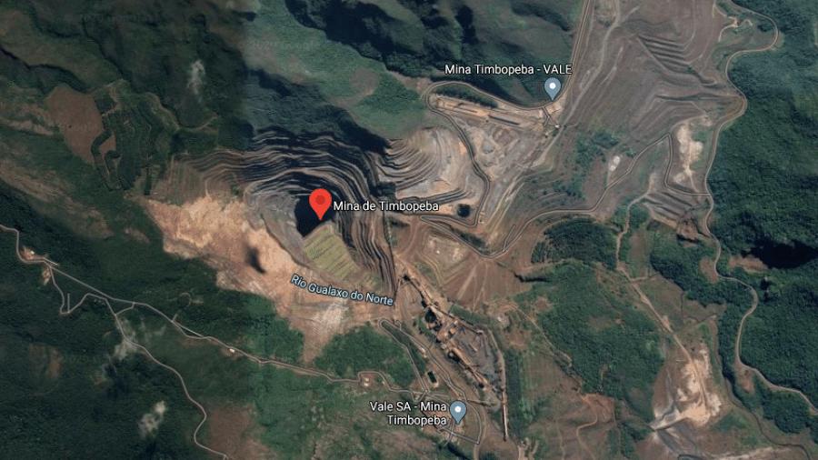 Barragem Doutor, no complexo de Mariana, teve zona de autossalvamento ampliada - Reprodução/Google Maps