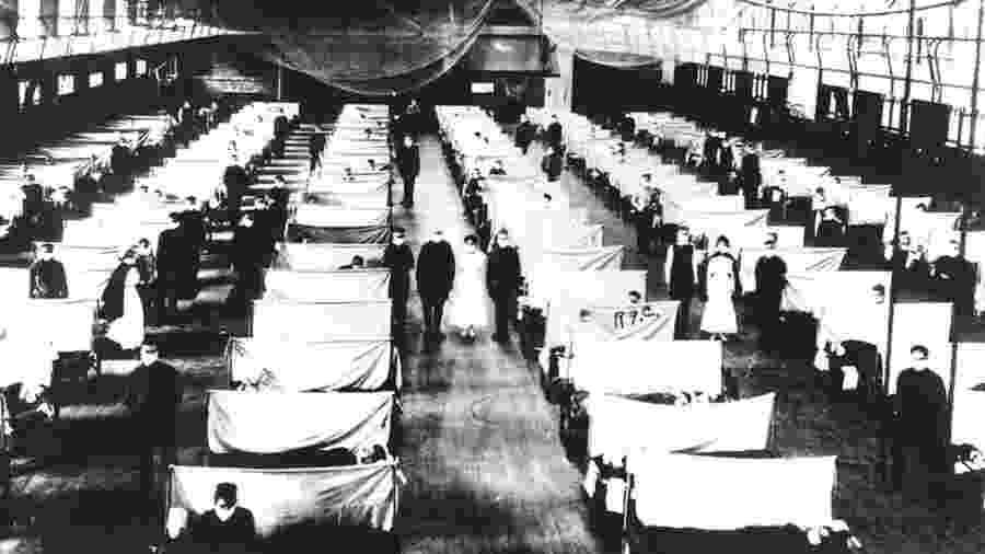 Estima-se que entre 50 e 100 milhões de pessoas tenham morrido por causa da gripe espanhola - GETTY IMAGES via BBC