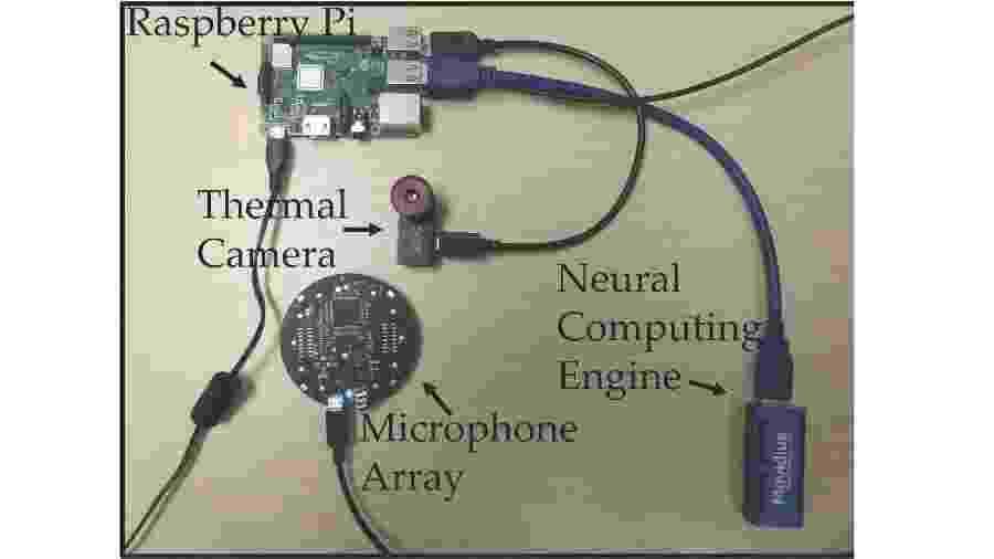 Componentes do FluSense - Divulgação/Umass Amherst