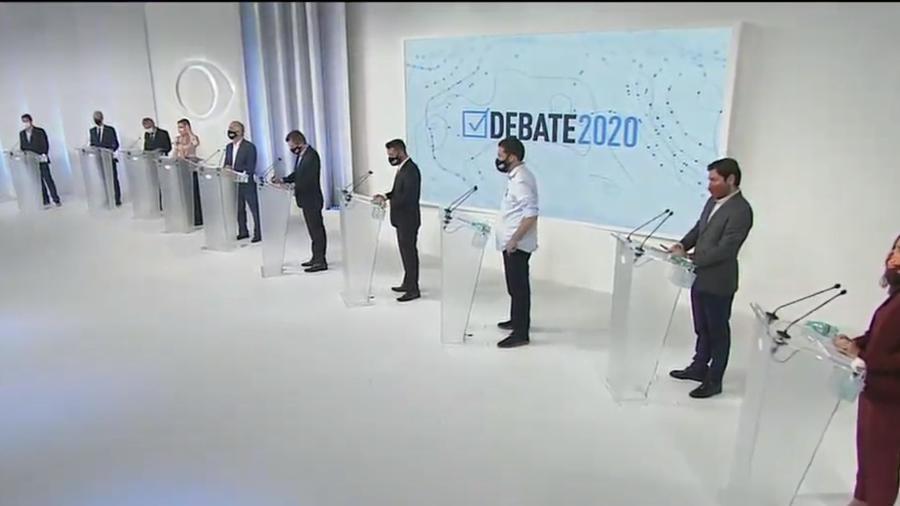 Eleições 2020: O debate da Band para prefeitura de São Paulo contou com 11 candidatos - Reprodução