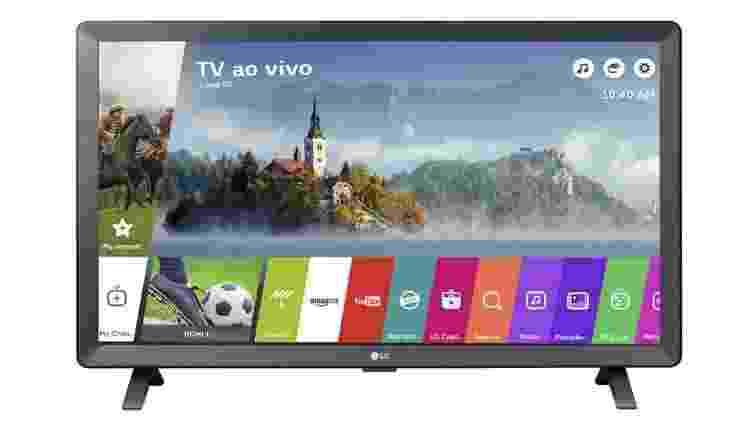 """Smart TV LED 24"""" LG - Divulgação - Divulgação"""