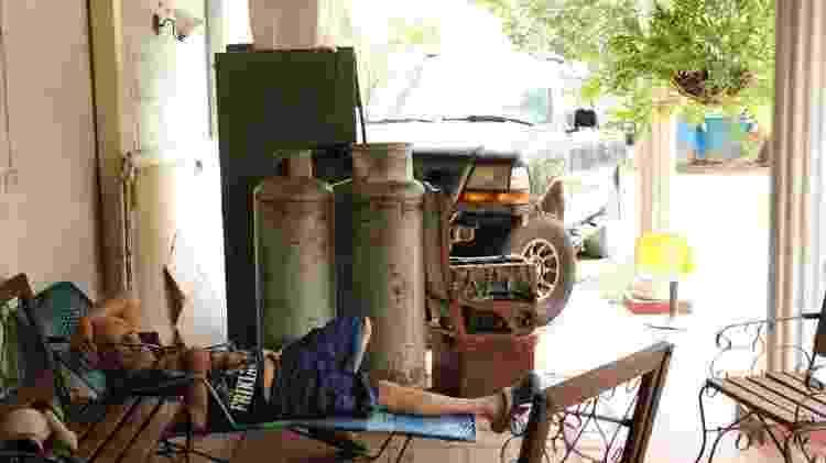 Em muitas casas, tanques de gás são usados agora apenas como adorno - BBC - BBC