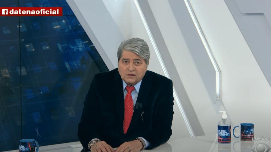 No programa Brasil Urgente, Datena insinua que há ligação entre alta do dólar e offshore de Guedes; o apresentador é pré-candidato nas eleições presidenciais de 2022 - Reprodução