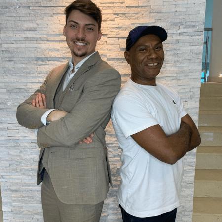 Jair Renan, um dos filhos de Bolsonaro, e Marcelo Luiz Nogueira dos Santos, ex-assessor de Flávio Bolsonaro - Reprodução/Instagram Jair Renan Bolsonaro