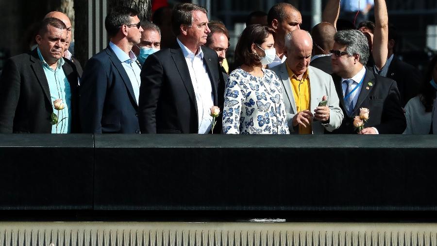 Presidente Jair Bolsonaro e comitiva visitam memorial às vítimas do 11 de Setembro em Nova York - Isac Nóbrega/PR