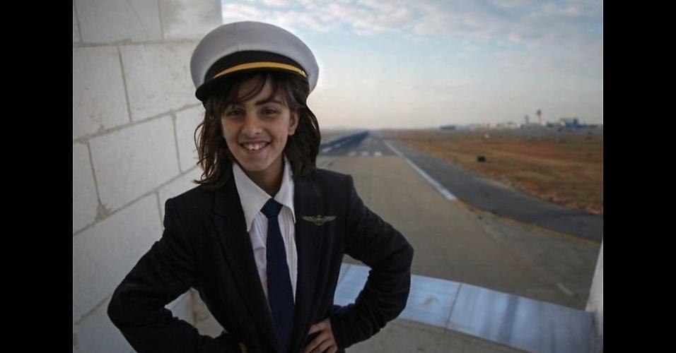 9.fev.2016 - Amani, 10, quer ser piloto, desejo que nutre antes mesmo de pisar em um avião.