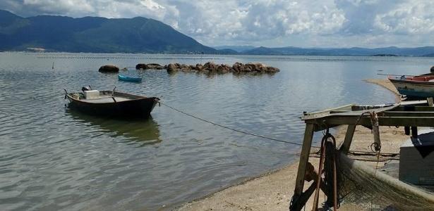 Fazenda de ostras no Ribeirão da Ilha, em Florianópolis: interditada a partir desta quinta