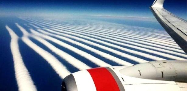 Foto foi tirada durante voo de Perth a Adelaide e viralizou depois de ser compartilhada por companhia aérea no Facebook