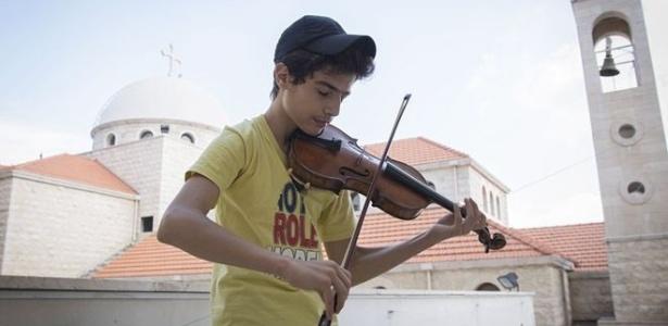 Aboud Kaplo teve de deixar sua casa em Aleppo e hoje vive no Líbano