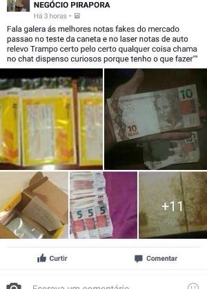 Suspeito divulgava anúncios no Facebook e oferecia dinheiro falso para os interessados