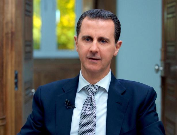 13.abr.2017 - O presidente sírio, Bashar Assad durante entrevista em Damasco - SANA/REUTERS