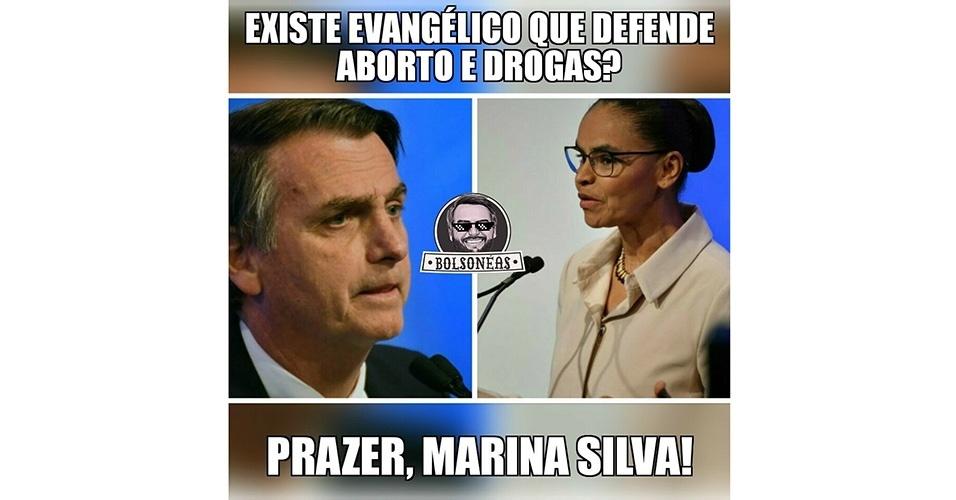 Meme Bolsonaro e Marina Debate da RedeTV!