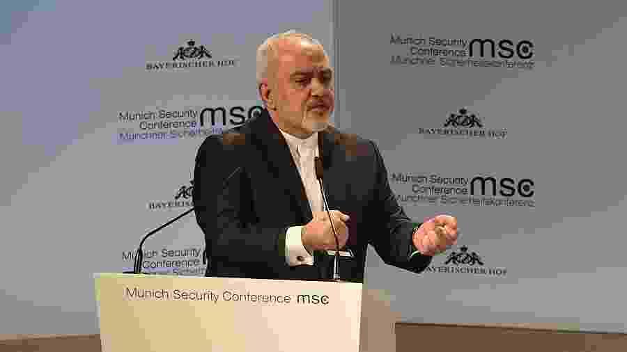 17.fev.2019 -- O ministro das Relações Exterior do Irã, Mohammad Javad Zarif - Lu Yang/Xinhua