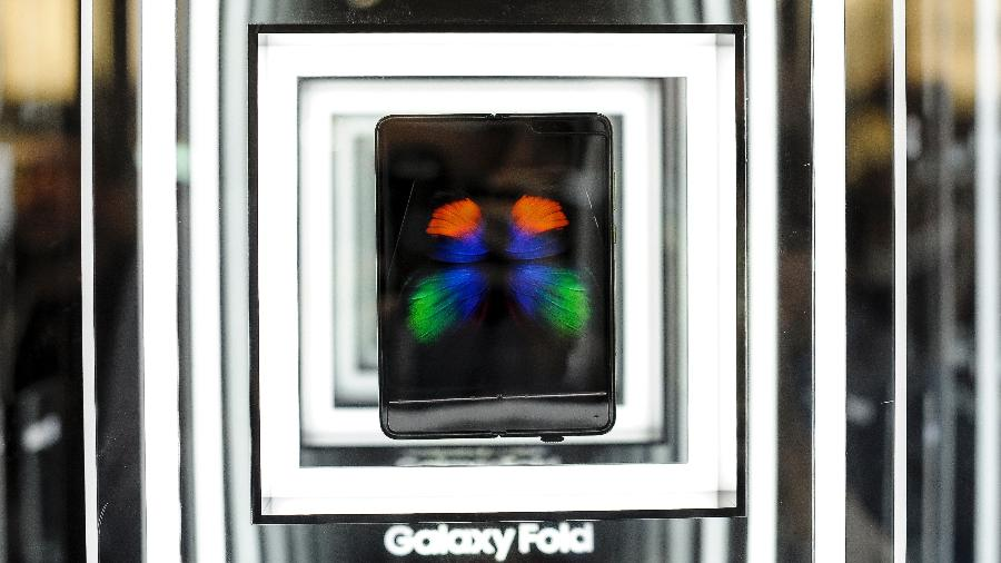 Samsung Galaxy Fold não pode ser tocado por ninguém durante o MWC - Getty Images