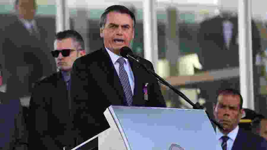 23.ago.2019 - O presidente Jair Bolsonaro (PSL) - Fátima Meira/Futura Press/Estadão Conteúdo