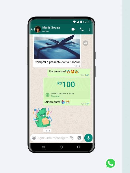 WhatsApp quer regulamentar função de enviar dinheiro e fazer pagamentos por meio do app - Divulgação/WhatsApp