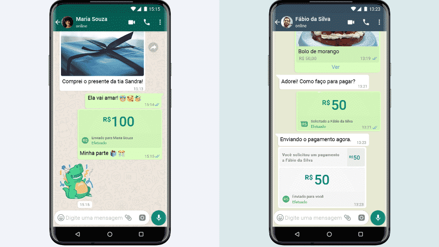 O anúncio da parceria do Facebook com instituições financeiras para execução de pagamentos por meio do WhatsApp foi feito na semana passada - Divulgação/WhatsApp