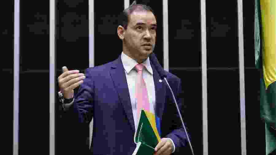 O deputado Vicentinho Júnior (PL-TO) discursa durante sessão da Câmara dos Deputados - 12.mar.2020 - Cleia Viana/Câmara dos Deputados
