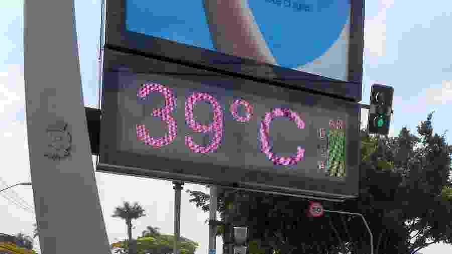 Termômetro de rua marca até 39ºC na cidade de São Paulo ontem; onda de calor deve continuar - CESAR CONVENTI/FOTOARENA/FOTOARENA/ESTADÃO CONTEÚDO