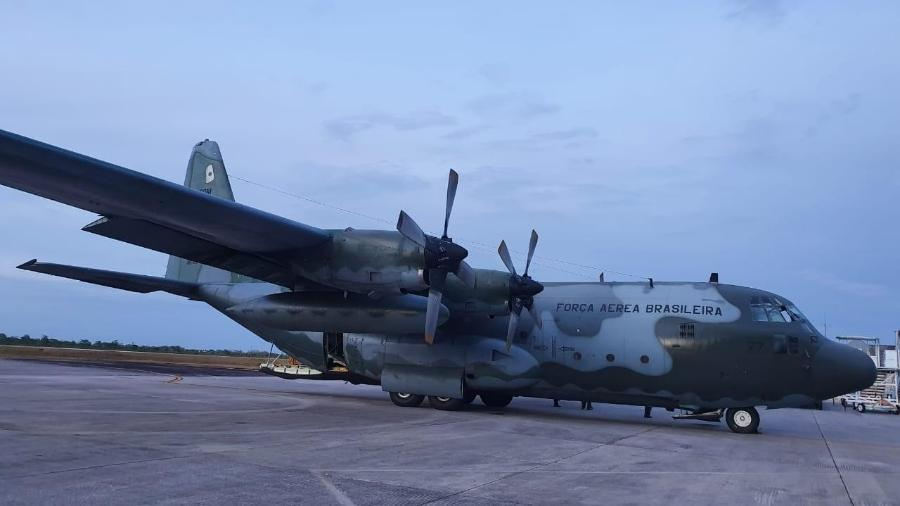 ??Pouso do C-130 Hércules em Macapá-AP - Divulgação/Defesa