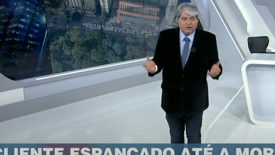 Datena criticou no Brasil Urgente quem relativiza o assassinato em Porto Alegre por conta de depredação em protesto - Reprodução