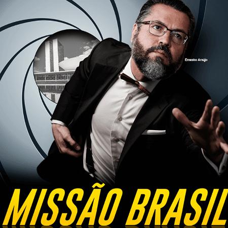 Capa da revista em que Ernesto Araújo posa de James Bond - Reprodução de internet