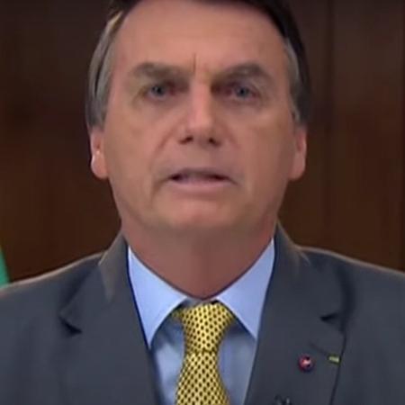 Jair Bolsonaro em pronunciamento em rede nacional sobre combate à covid-19 - Reprodução/MOV