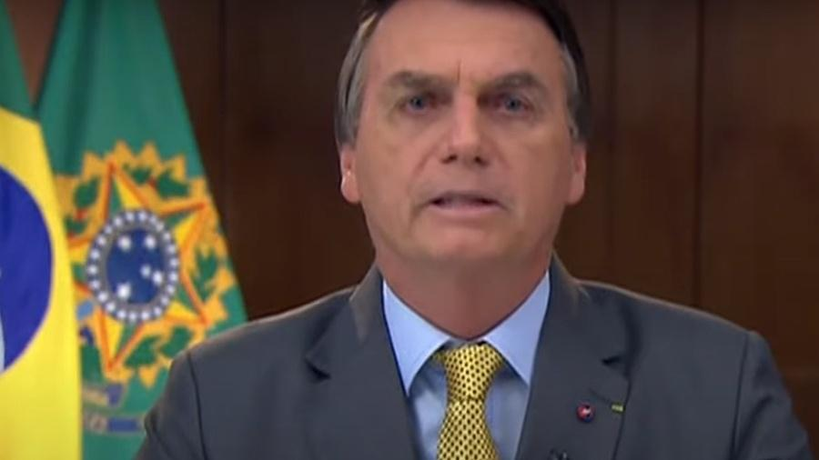 Jair Bolsonaro faz pronunciamento sobre combate contra covid-19 - Reprodução/MOV