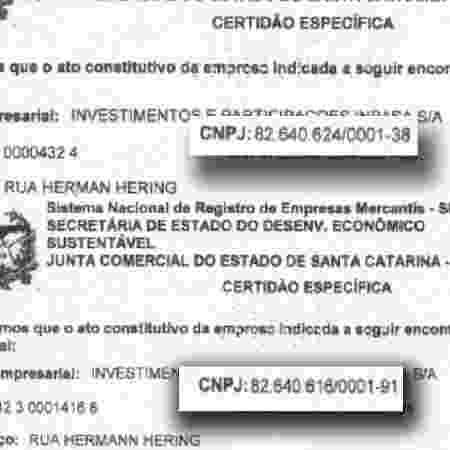 CNPJ da Inpasa aparece com dois CNPJs diferentes, dizem irmãos.  - Reprodução - Reprodução