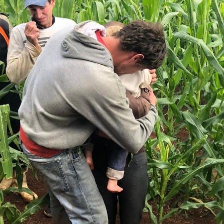 Criança que estava perdida em milharal foi encontrada na manhã de ontem - Divulgação/ Corpo de Bombeiros