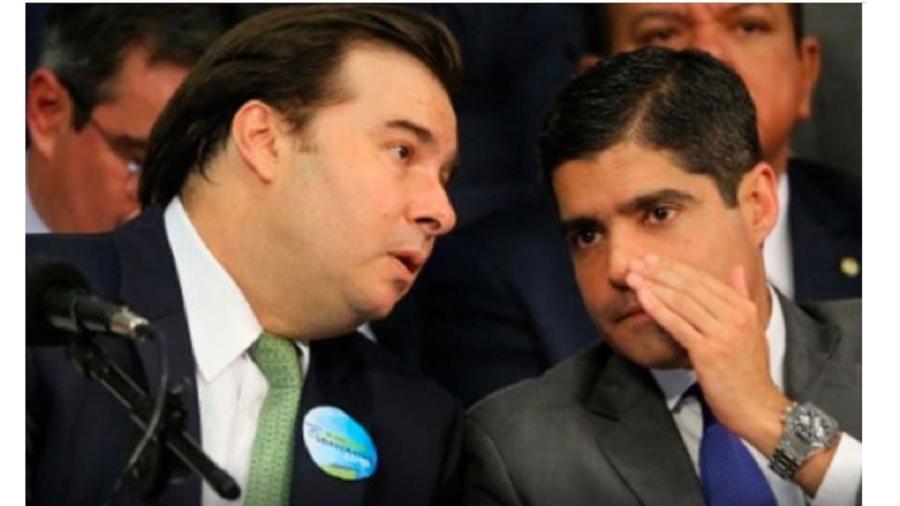 Rodrigo Maia e ACM Neto: não acabou bem a relação do ex-presidente da Câmara com o partido que já chegou a presidir. Legenda caiu no colo de Bolsonaro - Fátima Meira/Futura Press/Estadão Conteúdo