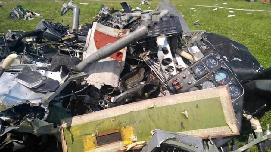 Avião L-410 com 19 pessoas a bordo caiu durante um voo de treinamento no aeródromo de Tanay, na região siberiana de Kemerovo (Rússia) - Investigative Committee of Russia/AFP