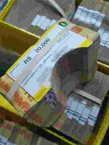 Sistema de inutilização de cédulas impediu roubo de R$ 90 milhões em Araçatuba (SP) - Reprodução - Reprodução