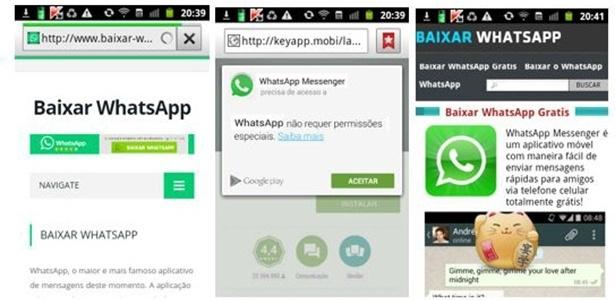 Golpistas criam páginas bem posicionadas em buscas com links falsos do WhatsApp - Reprodução/Kaspersky