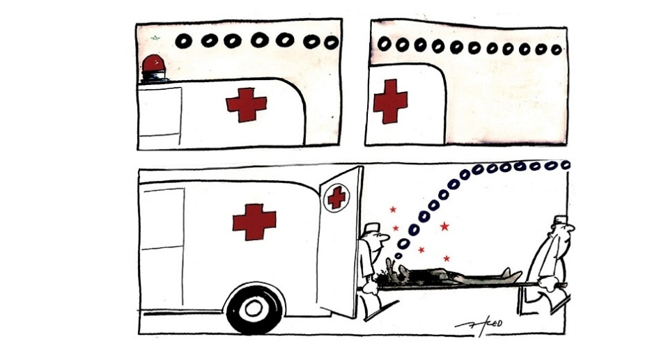 6.jan.2016 - Quem pede socorro: o paciente, a ambulância ou a saúde pública brasileira?