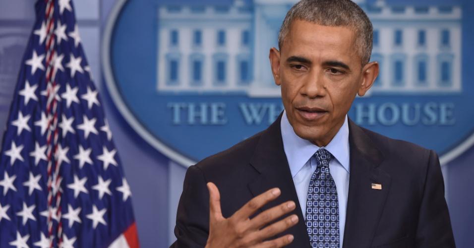 Barack Obama dá sua última entrevista coletiva